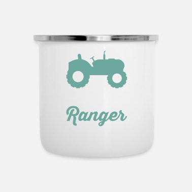 Back Yard The Lawn Ranger Rides Again - Enamel Mug