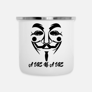 Occupy Guy Fawkes A Lie - Tasse émaillée