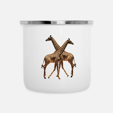 Safari Giraffe - Africa - Kewnia - Safari - Tazza smaltata