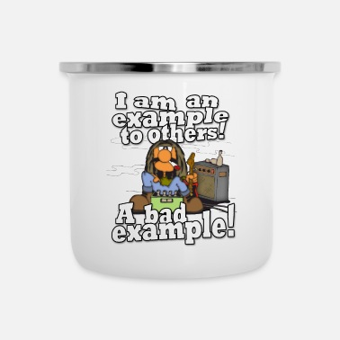 Bad A bad role model - A bad example! - Enamel Mug