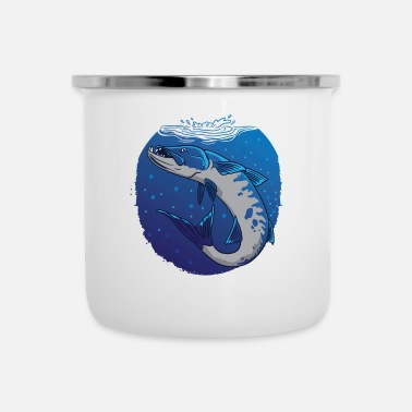 Predatory Fish Fishing pike zander predatory fish - Enamel Mug