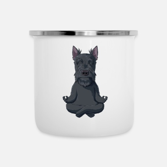 Terrier Tazze & Accessori - Cane Scottish Terrier - Tazza smaltata bianco