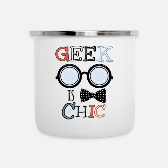 Geek Mugs & Drinkware - geek - Enamel Mug white