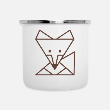 Light Geometric fox - Enamel Mug