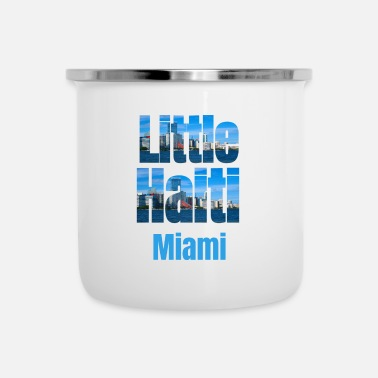 Tourist Little Haiti Miami, Caraïbische stijl Little Haiti USA Country Tourist Gifts - Emaille mok