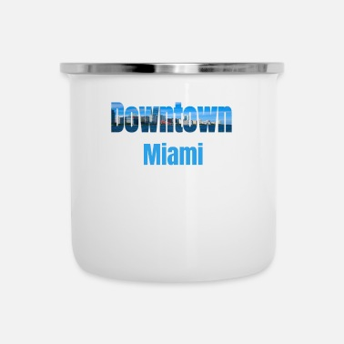 Tourist Downtown Miami, Verenigde Staten, Country Tourist Gifts - Emaille mok