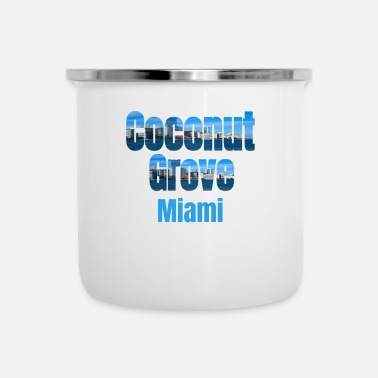 Tourist Coconut Grove Miami, Verenigde Staten, Country Tourist Gifts - Emaille mok