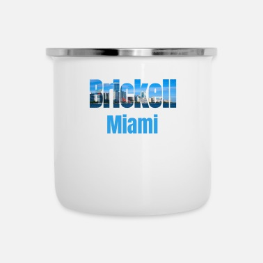 Tourist Brickell Miami, Verenigde Staten, Country Tourist Gifts - Emaille mok