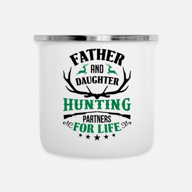 Hunting Far och dotter Hunting Partners For Life - Emaljmugg
