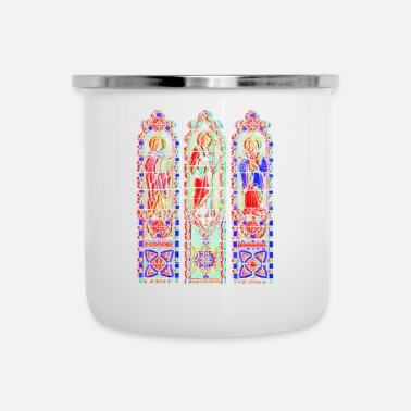 Talisman Church in the Wild / 3D Jezus glas in lood - Emaille mok