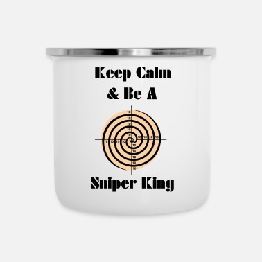 Keep Calm Sniper King - Emaille mok