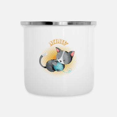 Miaw Kitty Cat Kitty Miaw Kitty dolce soffice - Tazza smaltata
