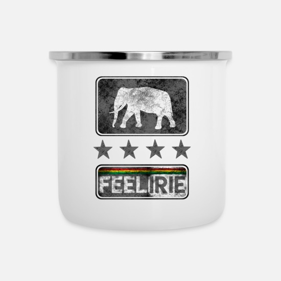 Rastafari Mugs & Drinkware - feel irie - Enamel Mug white