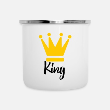 King - Emaille-Tasse