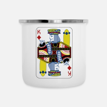 Cards King Card - Skateboard Poker Shirt Gift - Tasse émaillée
