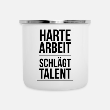 Filosofie Hard werken verslaat talent Hard werk verslaat talent - Emaille mok