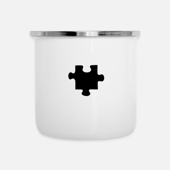 Symbol  Mugs & Drinkware - Piece of the Puzzle - Enamel Mug white