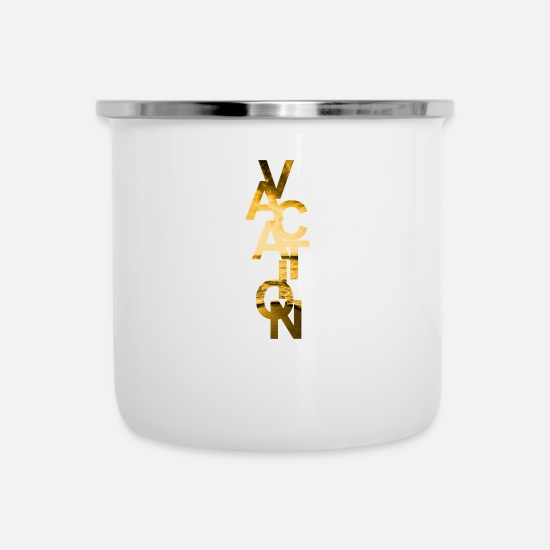 Gold Mugs & Drinkware - Vacation Gold - Enamel Mug white