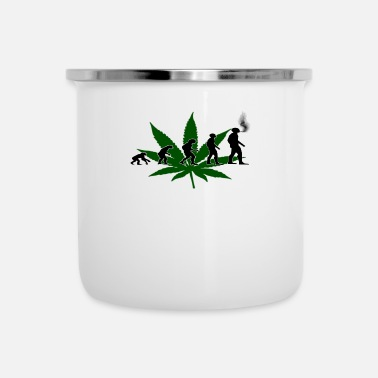 Cannabis Camiseta Cannabis Evolution Cannabis - Taza esmaltada