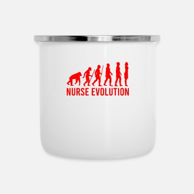 Darwin Nurse Evolution Funny Job Gift T-Shirt - Emaille-Tasse