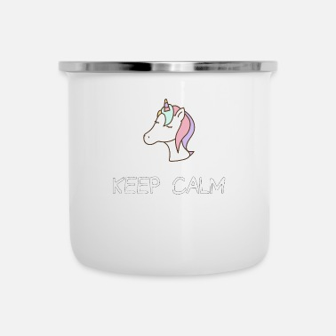 Keep Calm Keep Calm Unicorn - Emaille mok