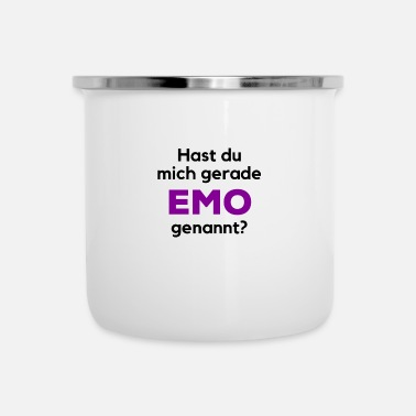Emo Emo Punk Rock Emostyle Say funny - Tazza smaltata
