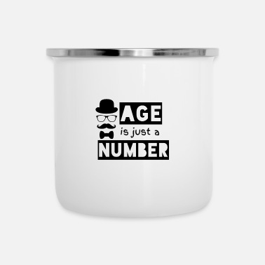 Age is just a number - Enamel Mug
