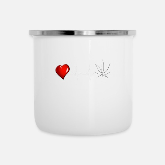 Gift Idea Mugs & Drinkware - cannabis - Enamel Mug white