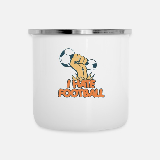 Gift Idea Mugs & Drinkware - Football match footballer team gift - Enamel Mug white