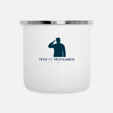 Us Veterans day - Enamel Mug