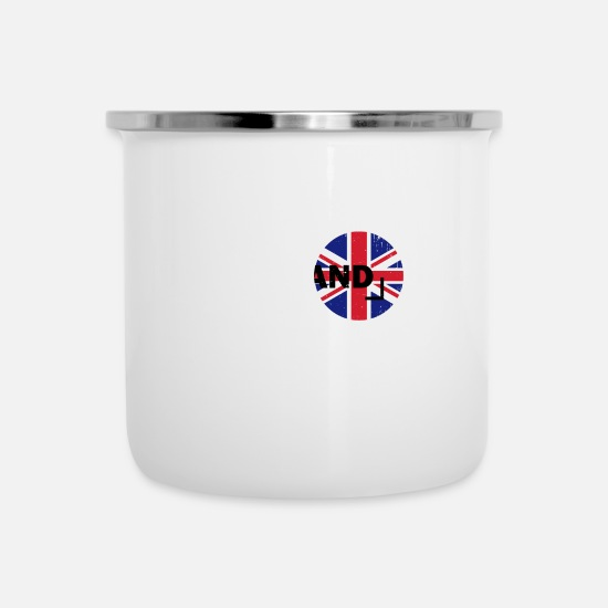 Gift Idea Mugs & Drinkware - England United Kingdom United Kingdom - Enamel Mug white