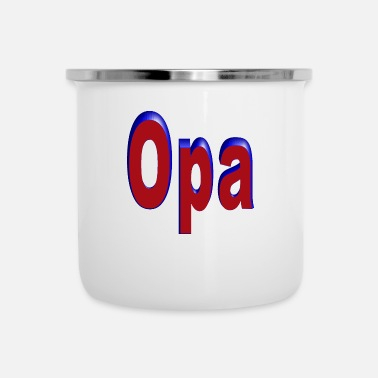 Opa opa - Emaille mok