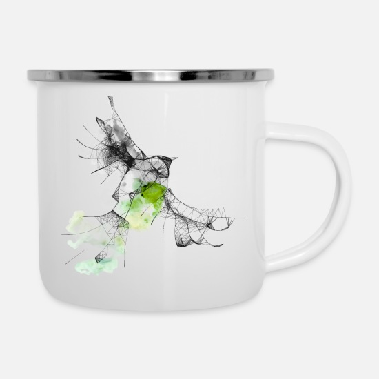 Nature Collection Mugs & Drinkware - bird - Enamel Mug white
