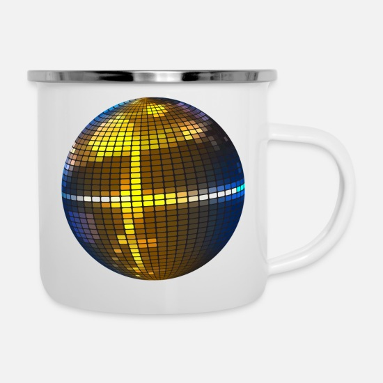 Disco Ball Mugs & Drinkware - Disco ball - Enamel Mug white