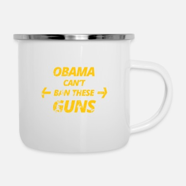Obama obama - Tazza smaltata