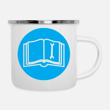 reading books reader reading books132 - Enamel Mug