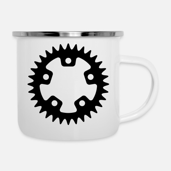 Bike Messenger Mugs & Drinkware - Bike - Bike - Enamel Mug white