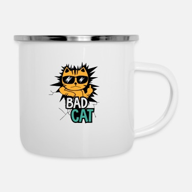 Bad Bad Cat / Bad Kitty / Bad Cat - Enamel Mug