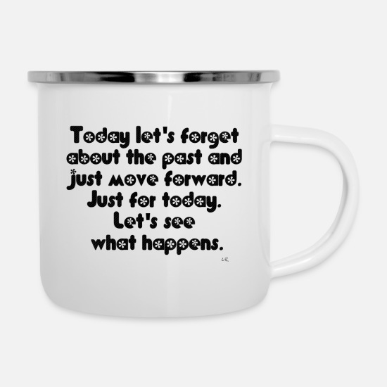 Quotes Mugs & Drinkware - Quote - Enamel Mug white