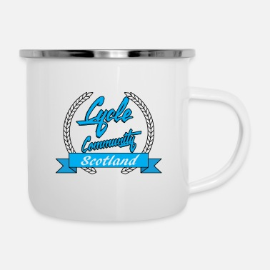 cycle community scotland blue logo tee - Enamel Mug