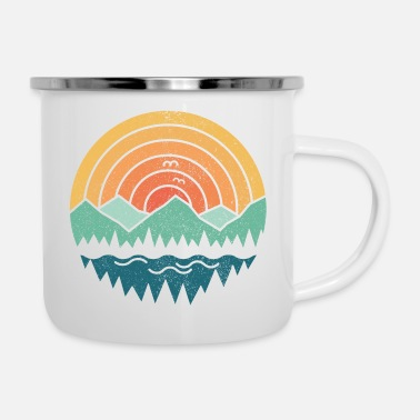 Collections Vintage Mountains - Emaille-Tasse