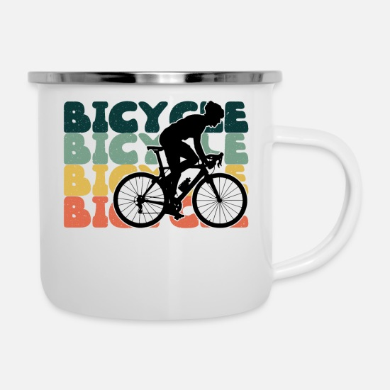 Cycling Mugs & Drinkware - Bicycle Cycling Bicycle Tour Cycling - Enamel Mug white