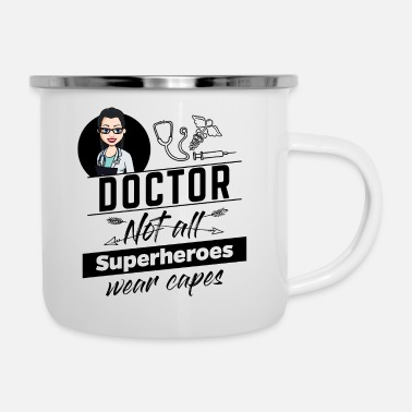 Hero Female Doctor Female Doctor - Not All Superheroes - Enamel Mug