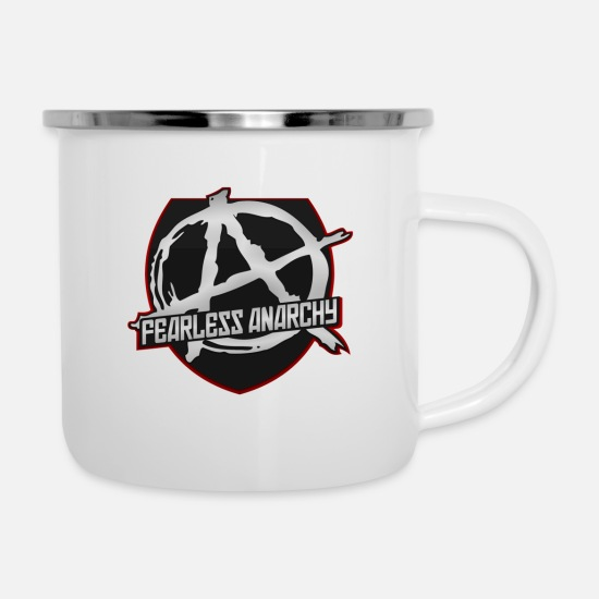 Anarchy Mugs & Drinkware - Anarchy - Enamel Mug white