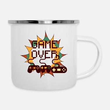 Handheld Game over Handheld - Emaille-Tasse