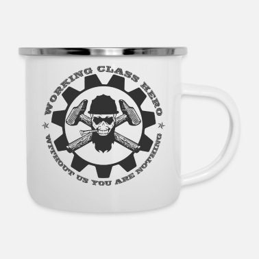Hero Working Class Hero - Enamel Mug