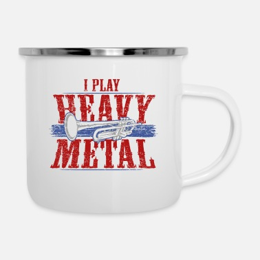 Heavy Musica in ottone heavy metal - Tazza smaltata