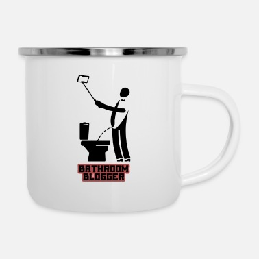 Bathroom bathroom blogger Funny t-shirts - Enamel Mug