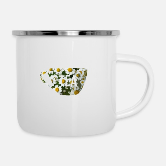 Tea Mugs & Drinkware - Tea - Enamel Mug white