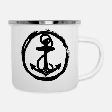 Sea Sea - anchor anchor - sea - sea - Enamel Mug